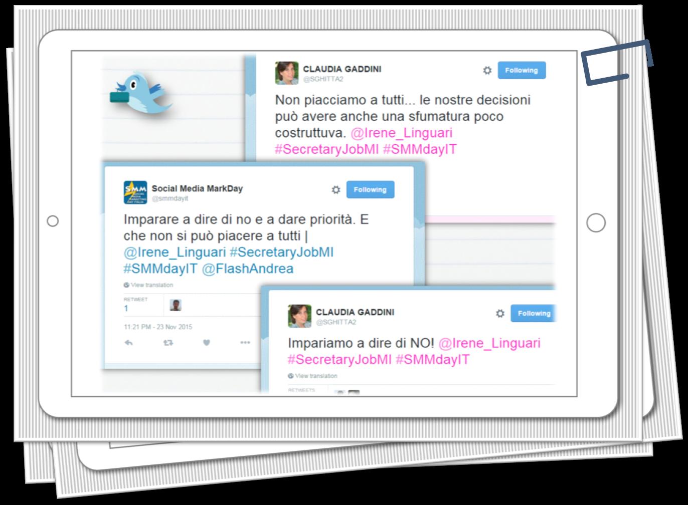 Irene Linguari AssistenteDallaAallaZeta Parole Chiave Missione Feedback Tweet SecretaryJob Milano Assistente dalla A alla Zeta