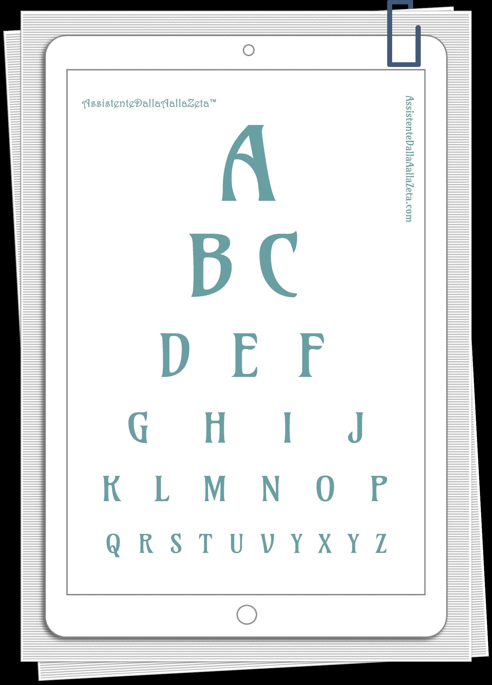 Irene Linguari AssistenteDallaAallaZeta Stampe Grafiche Decor Poster Oculista scaricabile gratuitamente Assistente Dalla A alla Zeta
