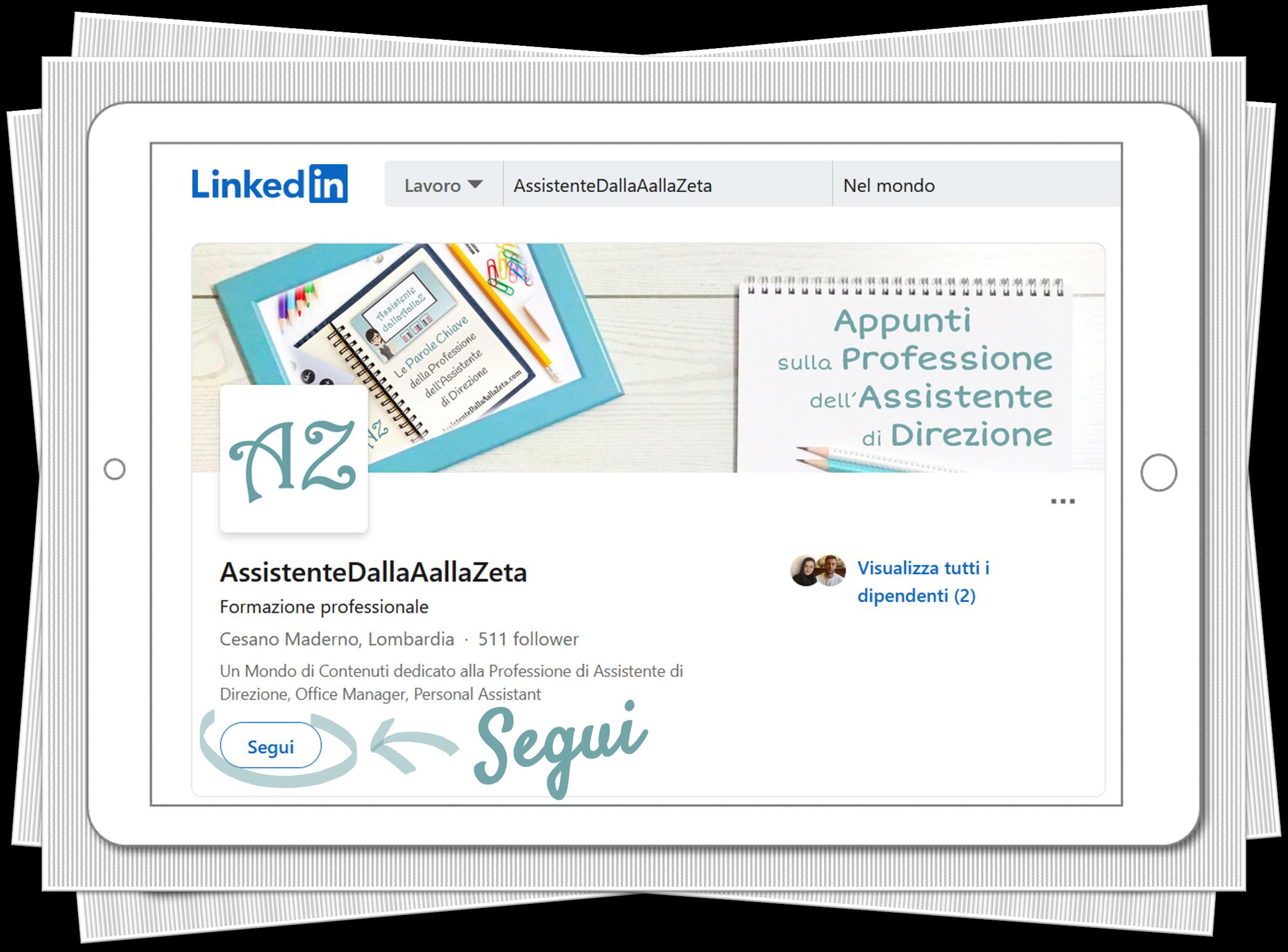 AssistenteDallaAallaZeta Parole Chiave Assistente di Direzione Linkedin Assistente Dalla A alla Zeta